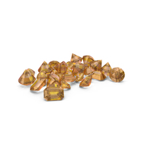 Small Amber Diamond Pile PNG & PSD Images