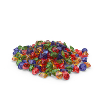 Pile of Mixed Gems PNG & PSD Images