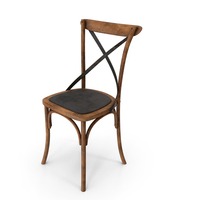 Thonet Chair Oak Black Dirty PNG & PSD Images