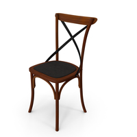 Thonet Chair Apple Black PNG & PSD Images