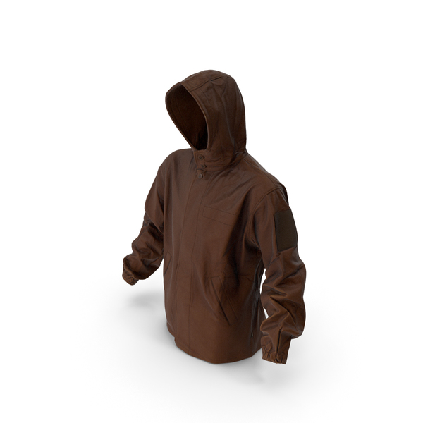 Military Brown Jacket Hood PNG & PSD Images