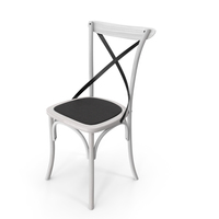 Thonet Chair White Black PNG & PSD Images