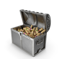 Large Silver Chest With Scrolls PNG & PSD Images