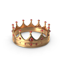 Crown with Ruby Gems PNG & PSD Images