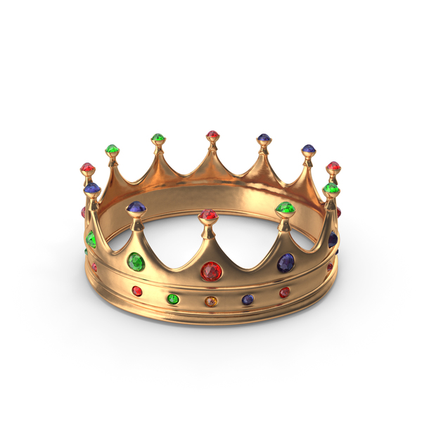 Crown with Mixed Gems PNG & PSD Images