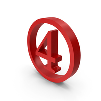 Number Circle 4 PNG & PSD Images