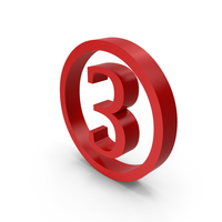Number Circle 3 PNG & PSD Images
