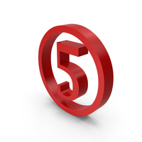 Number Circle 5 PNG & PSD Images