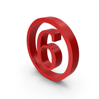 Number Circle 6 PNG & PSD Images