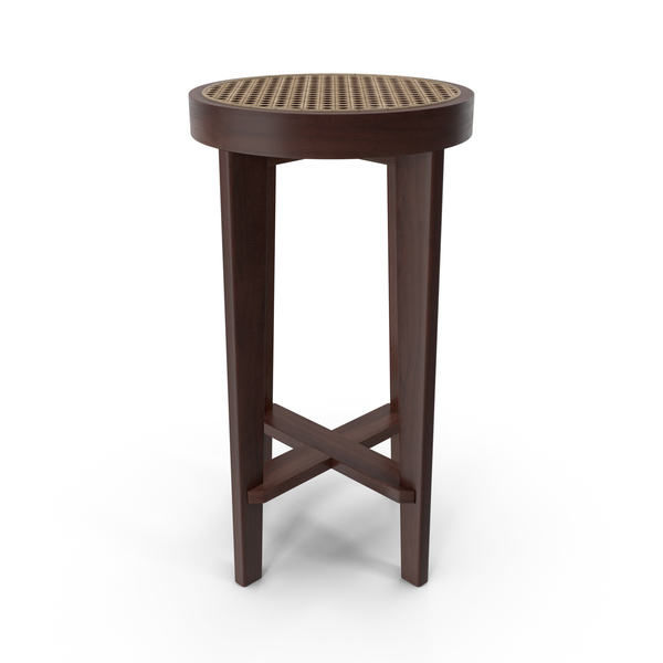 Cane Seated Bar Stool PNG & PSD Images