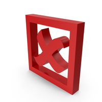 Check Mark Symbol Cross with Box PNG & PSD Images
