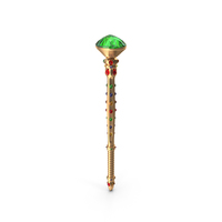 Scepter with Mixed Gems PNG & PSD Images