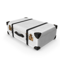 Retro Suitcase White PNG & PSD Images