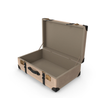 Retro Suitcase  Beige PNG & PSD Images