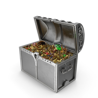 Silver Treasure Chest PNG & PSD Images