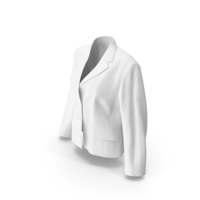 Women Blazer  White PNG & PSD Images
