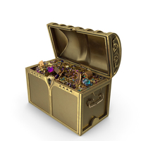 Golden Treasure Chest PNG & PSD Images