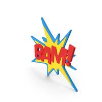 Superhero Comic Text Bubble BAM! PNG & PSD Images