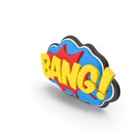 Superhero Comic Text Bubble BANG! PNG & PSD Images