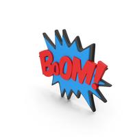 Superhero Comic Text Bubble BOOM! PNG & PSD Images