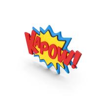 Superhero Comic Text Bubble KAPOW! PNG & PSD Images