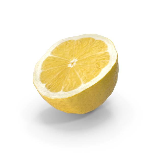 Lemon Half Cut PNG & PSD Images
