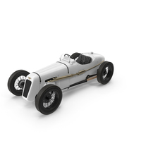 1930 Austin Seven Special Monoposto White PNG & PSD Images