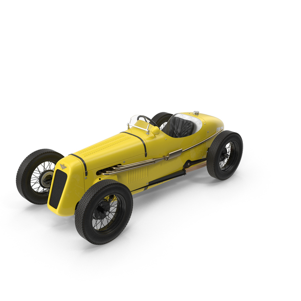 1930 Austin Seven Special Monoposto Yellow PNG & PSD Images