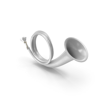 Silver Plated Hunting Horn PNG & PSD Images