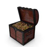Small Wooden Treasure Chest PNG & PSD Images