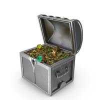 Small Silver Treasure Chest PNG & PSD Images