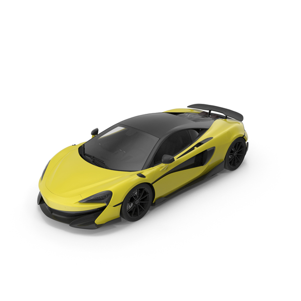 Sports Car 01 Yellow PNG & PSD Images