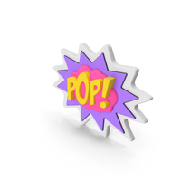 Comic Speech Bubble with Word Stock POP PNG & PSD Images
