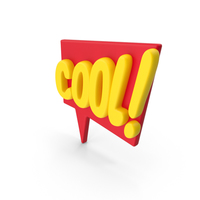 Colorful Comic Label Cool! PNG & PSD Images