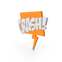 Colorful Comic Label CRASH! PNG & PSD Images