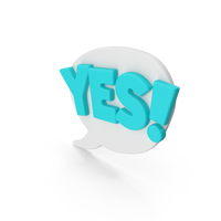 Colorful Comic Label YES! PNG & PSD Images
