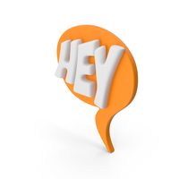 Speech Bubble HEY PNG & PSD Images