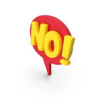 Speech Bubble NO! PNG & PSD Images