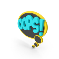 Speech Bubble OOPS! PNG & PSD Images