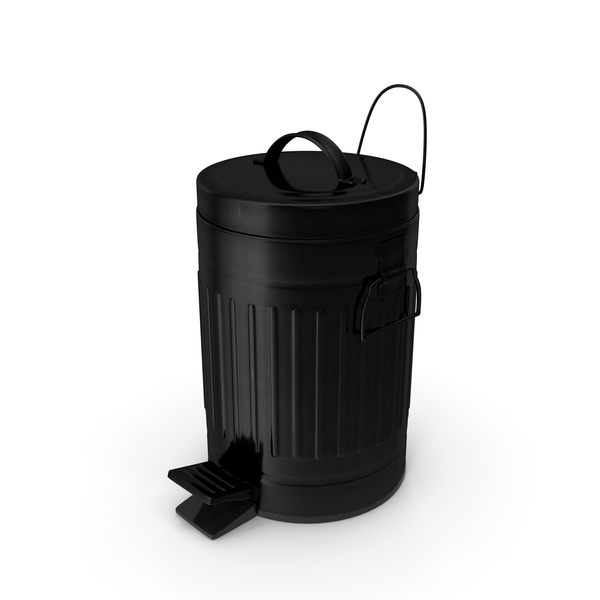 Pedal Trash Bin Black PNG & PSD Images