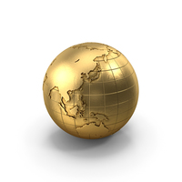 Globe Gold PNG & PSD Images
