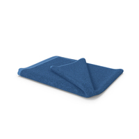 Towel Blue with Fur PNG & PSD Images