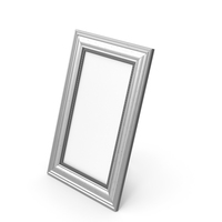 Silver Photo Frame PNG & PSD Images