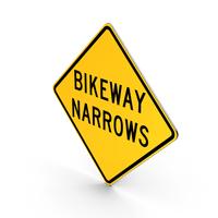Bikeway Narrows Sign PNG & PSD Images