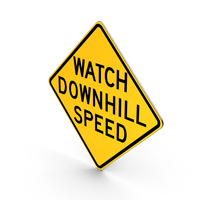 Watch Downhill Speed Road Sign PNG & PSD Images