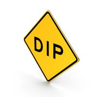 Dip Road Sign PNG & PSD Images