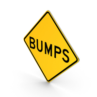 Bumps Minnesota North Dakota Road Sign PNG & PSD Images