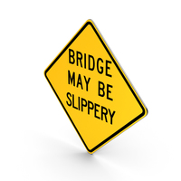 Bridge May Be Slippery  Pennsylvania Road Sign PNG & PSD Images