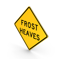 Frost Heaves Idaho Road Sign PNG & PSD Images