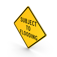 Subject To Flooding California Road Sign PNG & PSD Images